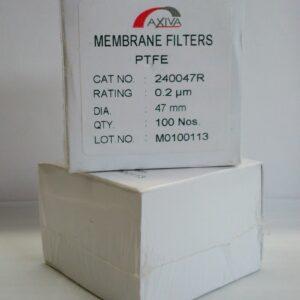 MEMBRANA DE FILTRACIÓN PTFE 0,20 µm ø 47 mm PTFE. MARCA AXIVA 240047R