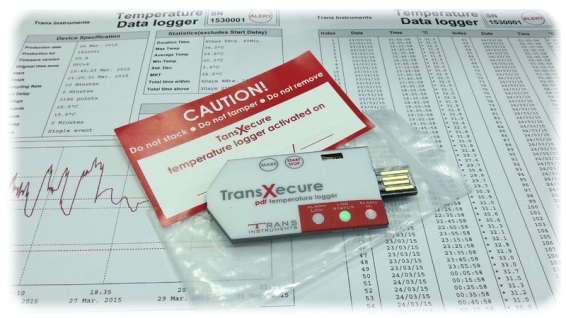 TRANSXECURE REGISTRO DE TEMPERATURA MARCA TRANS INSTRUMENTS